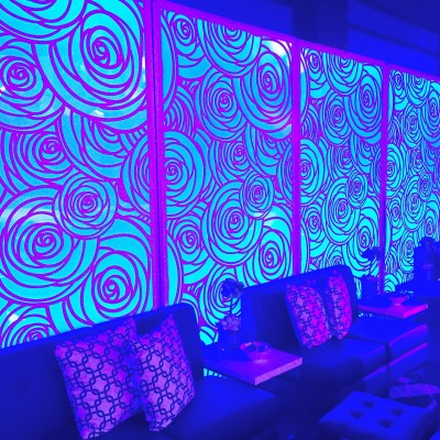 Spiral design lighting wall